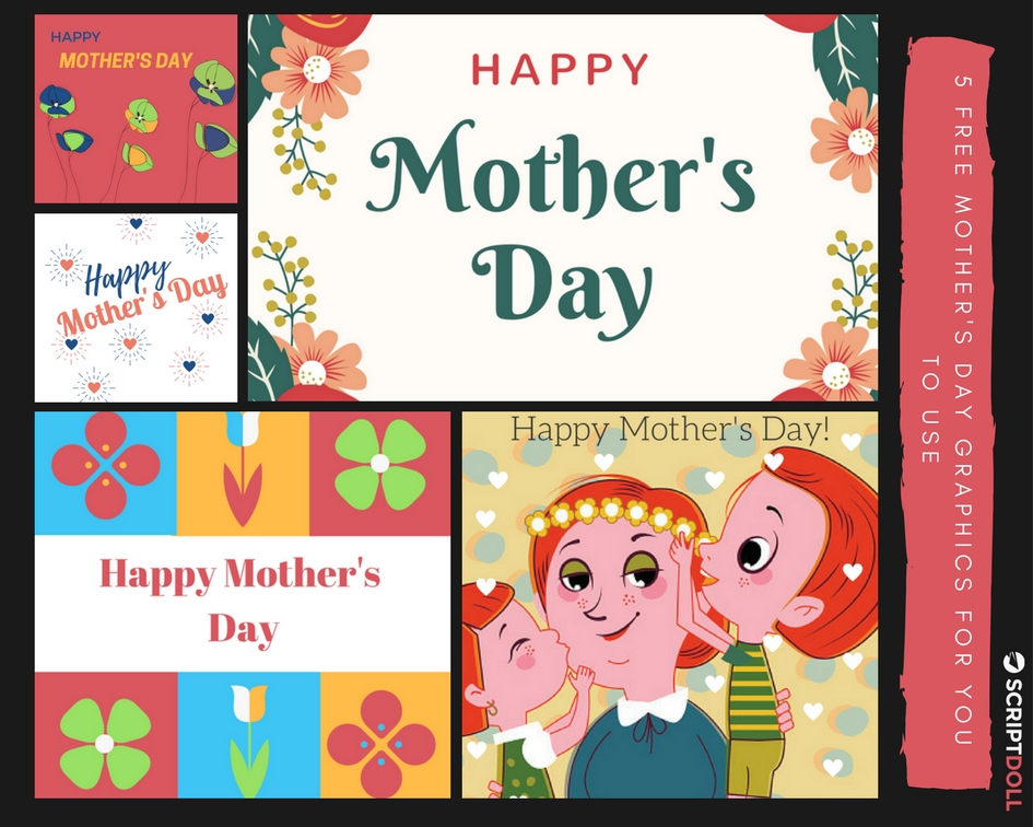 5 Free Mother's Day Graphics for You to Use (yes, even commercially)