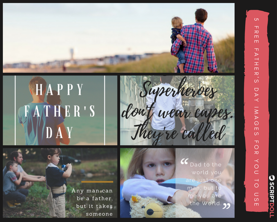 5 Free Father's Day Graphics for You to Use (yes, even commercially)