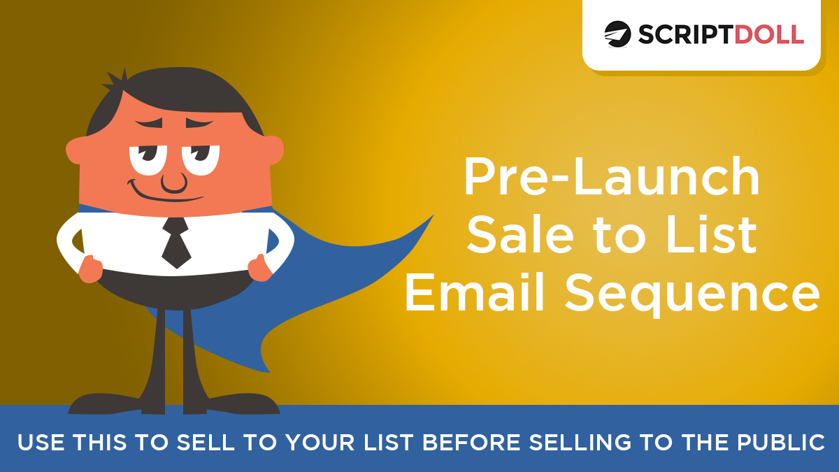 prelaunch sale to list email sequence template