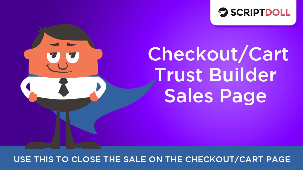 Checkout/Cart Trust Builder Sales Page Template