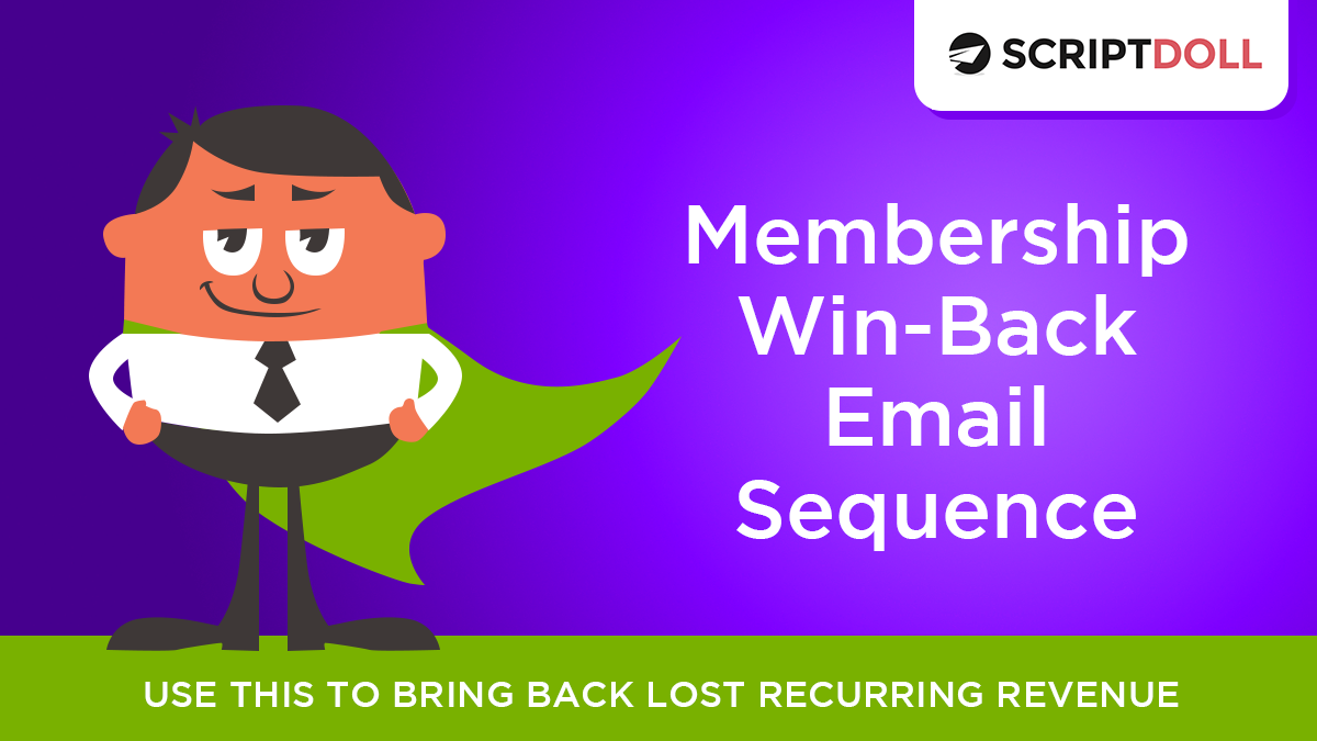 Membership Win Back Email Sequence Template