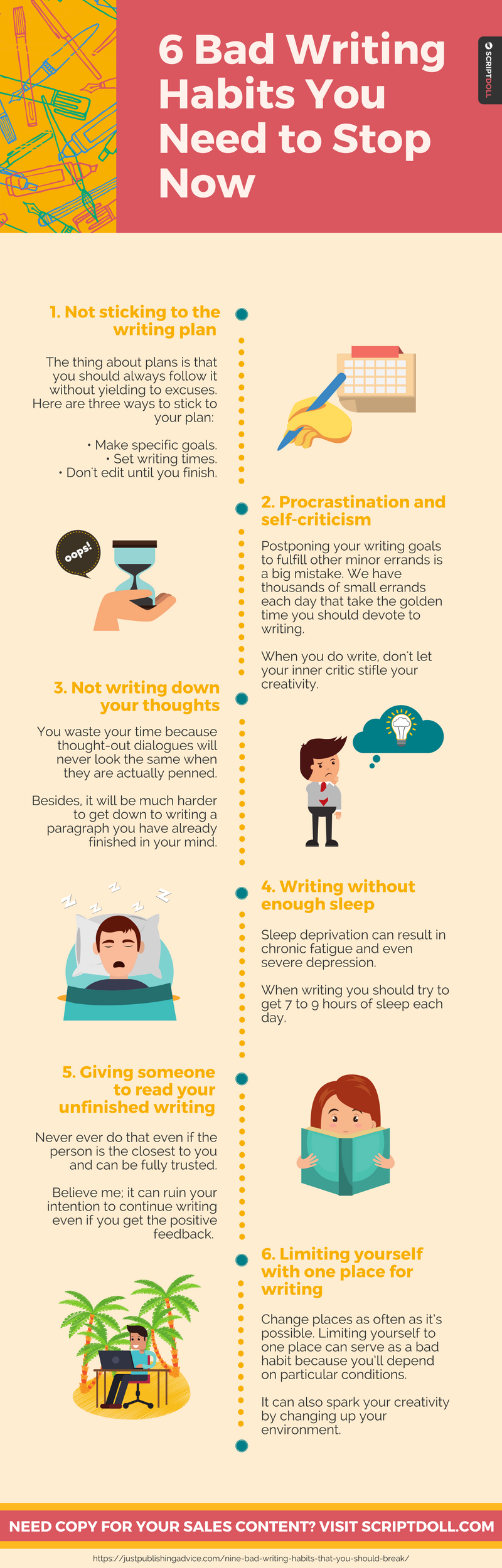 6 bad writing habits you need to stop now