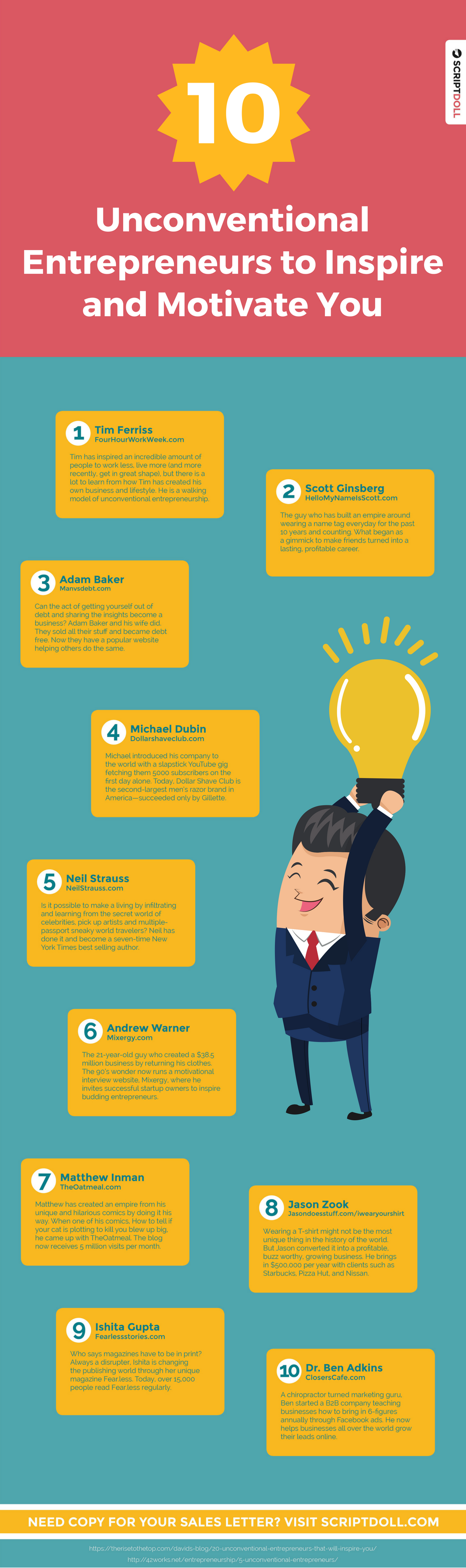 10 unconventional entrepreneurs to inspire and motivate you